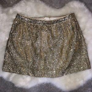 H&M Sequin Gold Miniskirt